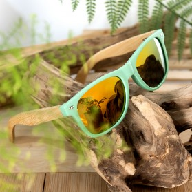 Bamboo Kacamata Fashion Retro Wood - Green - 4