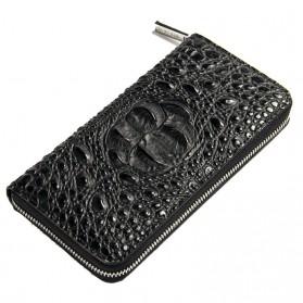 Dompet Kulit Model Crocodile - Black