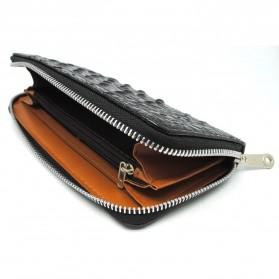 Dompet Kulit Model Crocodile - Black - 3