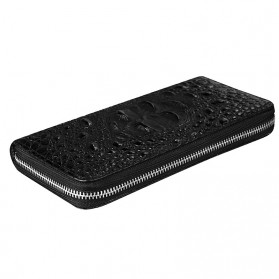 Dompet Kulit Model Crocodile - Black - 4