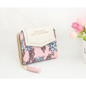Dompet Wanita Floral Pattern - WW03194 - Pink - 5