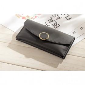 Dompet Wanita Solid Circle Shape - Bao-042 - Black - 4