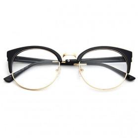 UVLAIK Frame Kacamata Clubmaster Full Frame - Black Gold - 2