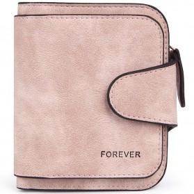 Dompet Wanita Kecil Lipat Matte Vintage Wallet - Pink