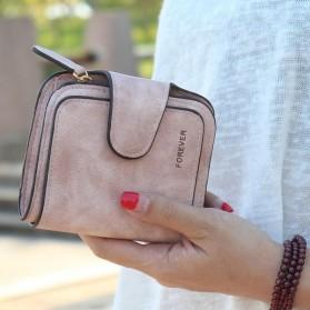 Dompet Wanita Kecil Lipat Matte Vintage Wallet - Pink - 2