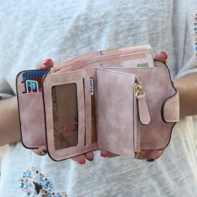 Dompet Wanita Kecil Lipat Matte Vintage Wallet - Pink - 6