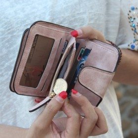 Dompet Wanita Kecil Lipat Matte Vintage Wallet - Pink - 7