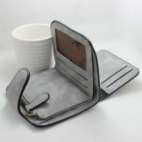 Dompet Wanita Kecil Lipat Matte Vintage Wallet - Pink - 8