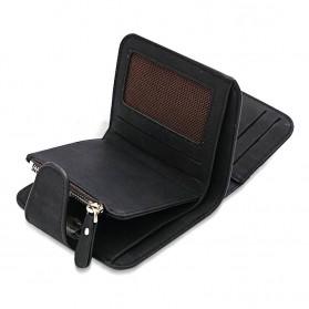 SEONYU Dompet Wanita Kecil Lipat Matte Vintage Wallet - B821 - Black - 2