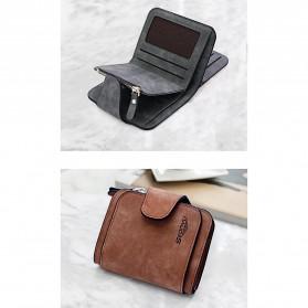 SEONYU Dompet Wanita Kecil Lipat Matte Vintage Wallet - B821 - Black - 6