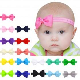 Bando Bayi Bowknot Newborn Lucu Model Pita - Pink - 2