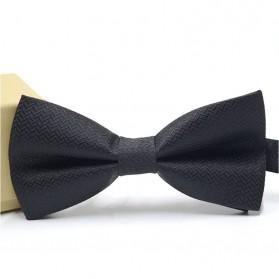 Dasi Kupu-Kupu Elegan - Black/Black