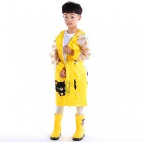 Jas Hujan Anak Motif Kartun Size M - Yellow - 1