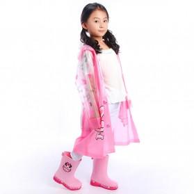 Jas Hujan Anak Motif Kartun Size M - Pink - 2