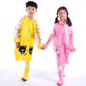 Jas Hujan Anak Motif Kartun Size M - Pink - 5