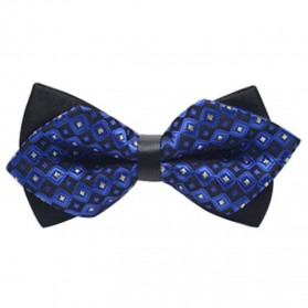 Dasi Kupu-Kupu Pria Collar Flower - Navy Blue