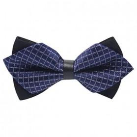 Dasi Kupu-Kupu Pria Collar Flower - Navy Blue - 2