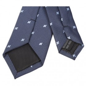 Set 3 in 1 Dasi Kupu-Kupu + Dasi Formal + Sapu Tangan Handkerchief - Dark Blue - 5