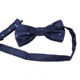 Set 3 in 1 Dasi Kupu-Kupu + Dasi Formal + Sapu Tangan Handkerchief - Light Blue - 4