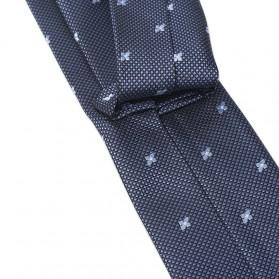 Set 3 in 1 Dasi Kupu-Kupu + Dasi Formal + Sapu Tangan Handkerchief - Light Blue - 6