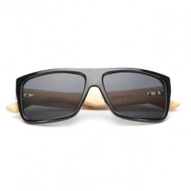 Bamboo Kacamata Fashion Sunglasses - Black