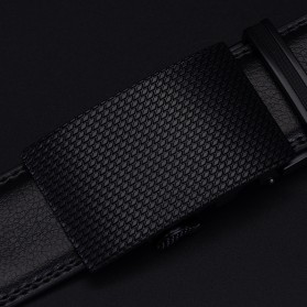 Tali Ikat Pinggang Kulit Genuine Leather Belt dengan Automatic Buckle - Black