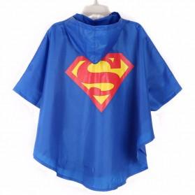 Jas Hujan Anak Justice League DC - Blue