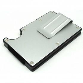 Dompet Kartu Anti RFID dengan Klip Uang - Silver