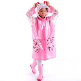 Jas Hujan Anak Motif Kartun Size L - Pink
