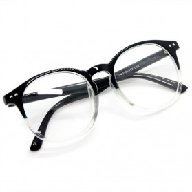 Kacamata Full Frame Pria & Wanita - Black/Transparant - 2