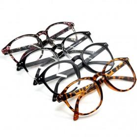 Kacamata Full Frame Pria & Wanita - Black/Transparant - 3