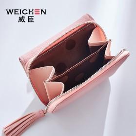 Dompet Wanita Clutch Zipper Coin Wallet - Black - 3
