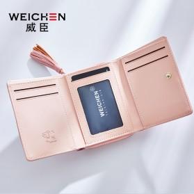 Dompet Wanita Clutch Zipper Coin Wallet - Black - 4