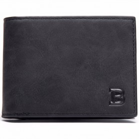 BABORRY Dompet Pria Model Simple Elegant Wallet - MJ-05/06 - Black