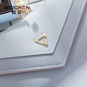 Dompet Wanita Clutch Geometric Zipper Coin Wallet - Pink - 2