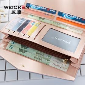 Dompet Wanita Clutch Geometric Zipper Coin Wallet - Pink - 4