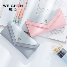 Dompet Wanita Clutch Geometric Zipper Coin Wallet - Pink - 5