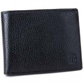 BABORRY Dompet Pria Model Leather Simple Elegant Wallet - MJ-01 - Black