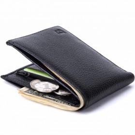BABORRY Dompet Pria Model Leather Simple Elegant Wallet - MJ-01 - Black - 2