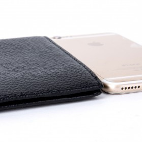 BABORRY Dompet Pria Model Leather Simple Elegant Wallet - MJ-01 - Black - 4