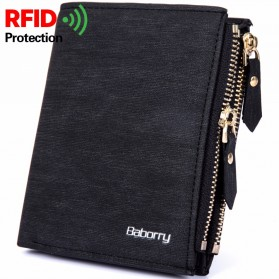 Dompet - BABORRY Dompet Pria Anti RFID (backup) - Black