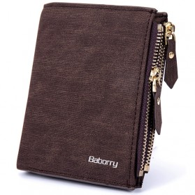 BABORRY Dompet Pria Anti RFID - Brown