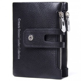 CONTACTS Dompet Kulit Genuine Pria - 1238 - Black