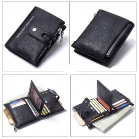 CONTACTS Dompet Kulit Genuine Pria - 1238 - Black - 2
