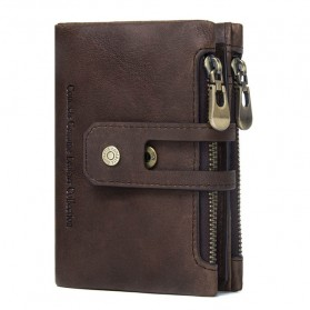 CONTACTS Dompet Kulit Genuine Pria - 1238 - Coffee