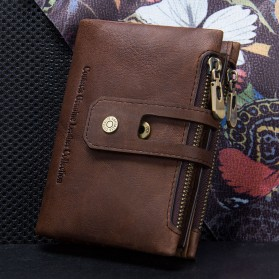 CONTACTS Dompet Kulit Genuine Pria - 1238 - Coffee - 4