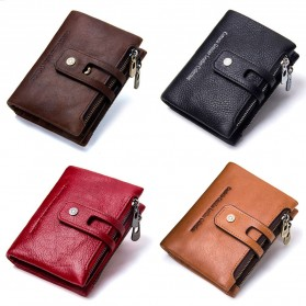 CONTACTS Dompet Kulit Genuine Pria - 1238 - Coffee - 5