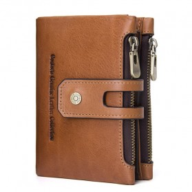 CONTACTS Dompet Kulit Genuine Pria - 1238 - Brown