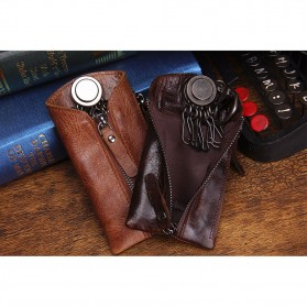 CONTACTS Dompet Gantungan Kunci Mobil Genuine Leather - 2012 - Black - 3