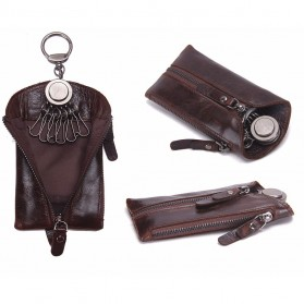 CONTACTS Dompet Gantungan Kunci Mobil Genuine Leather - 2012 - Black - 5